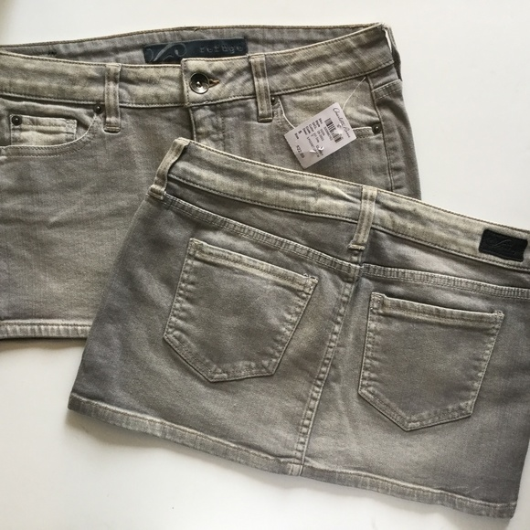 5ed16a5f6 refuge Skirts   Solid Plain Gray Denim Mini Skirt   Poshmark